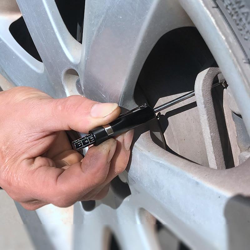 ACAMPTAR Brake Pad Detection Pen Scale Brake Pad Thickness Gauge for Brake Pad Test