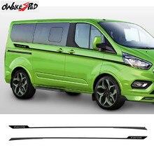 Linha da cintura da porta do carro decoração adesivos para-ford tourneo esporte personalizado listras adesivos estilo automático corpo vinil decalques