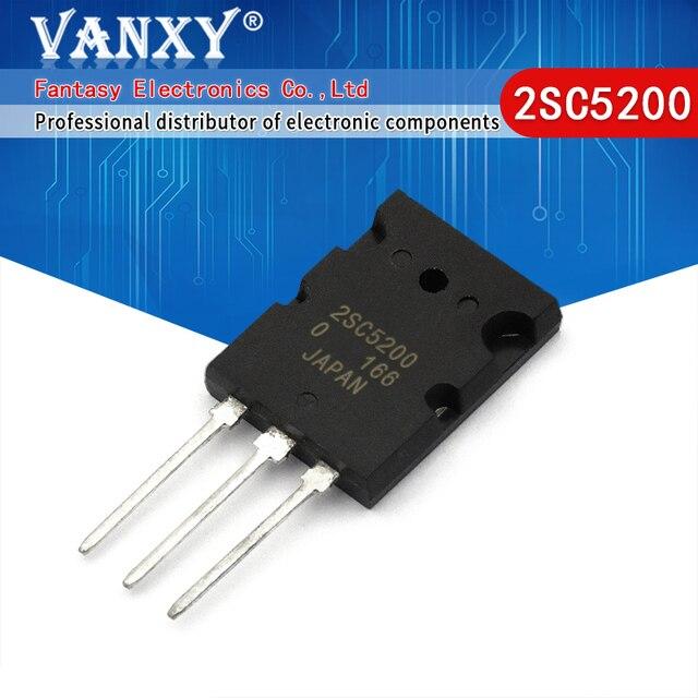 50 قطعة 2SC5200 TO 3P C5200 TO 3PL 5200 جديدة ومبتكرة