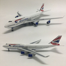 1/160 Scale 50.5CM BRITISH Airline Airplane Airbus 380 A380 Boeing b747 Model W Light and Wheel Diecast Plastic Resin Planes