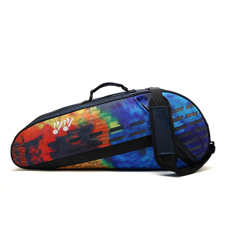 Shoulder Badminton Racket Bag Thicken Tennis Racket Sack Canvas Waterproof Wear Resistant Big Capacity Racquet Accessories
