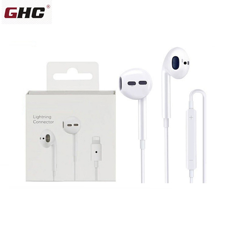 Wired Earphone With Microphone In-Ear Stereo Music Earbuds Sport Headphone For Lightning Headphones For IPhone 8 7 Plus X XS MAX
