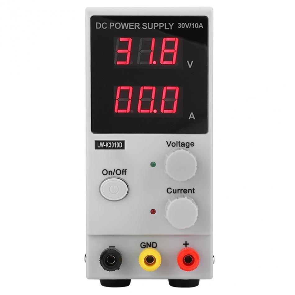 Fuente de conmutación CC K3010D Variable 10A, suministro regulado, pantalla Digital LCD ajustable, suministro de 30V