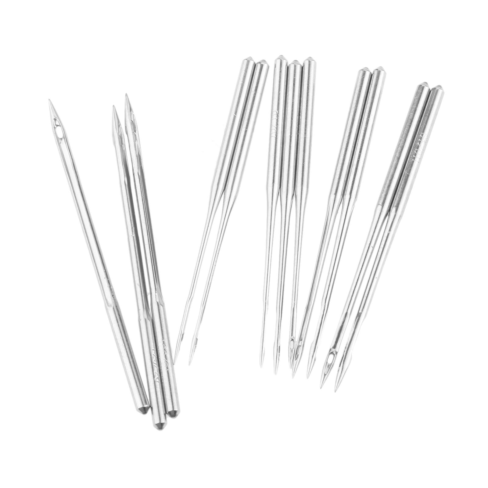 #21 10Pcs Industrial and Domestic Overlock Sewing Machine Needles for JUKI Brother Pegasus Sewing Needles,Size