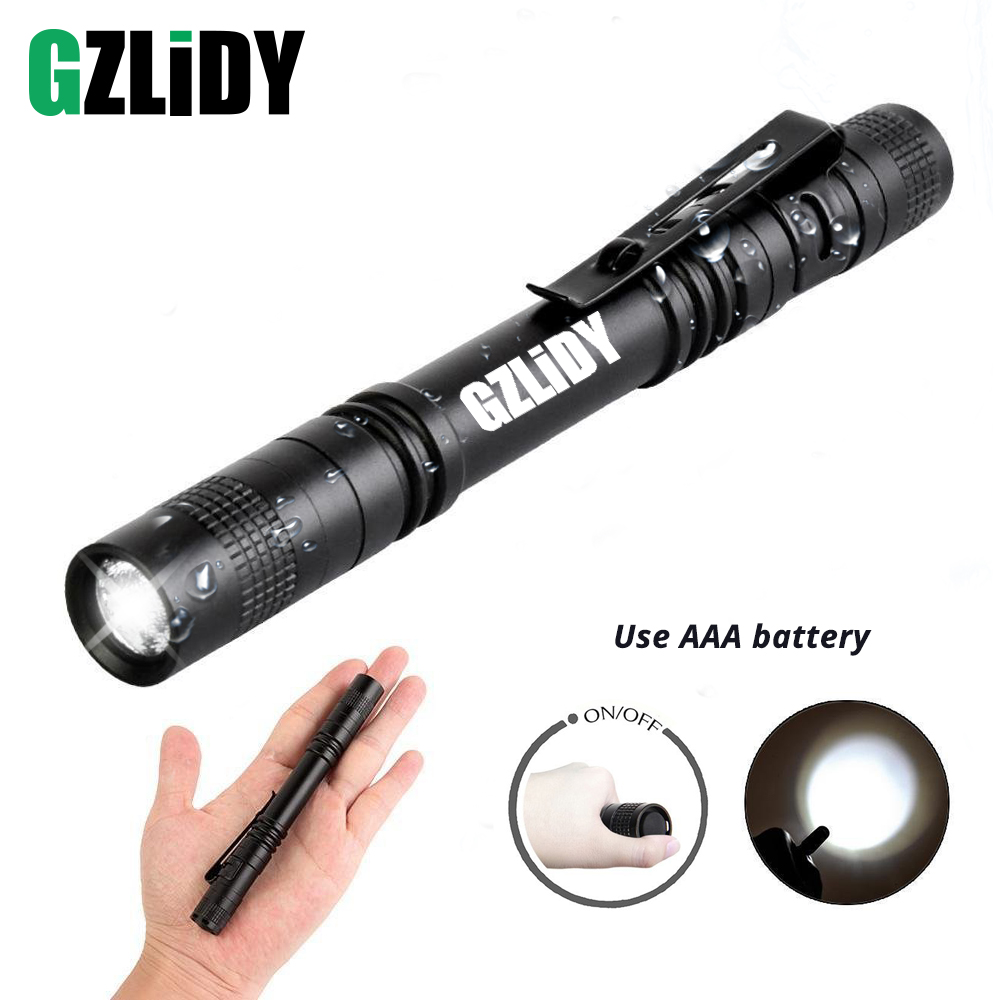 Pen Light Mini Portable LED Flashlight Waterproof 1 Switch Mode Led Flashlight For The Dentist And For Camping Hiking Out