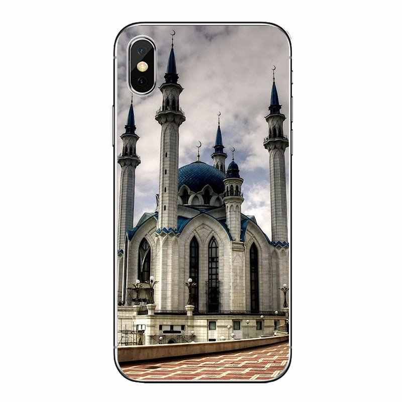Qolsharif mosquée Kazan russie pour Huawei Honor 8 8C 8X9 10 7A 7C Mate 10 20 Lite Pro P Smart Plus housses souples transparentes