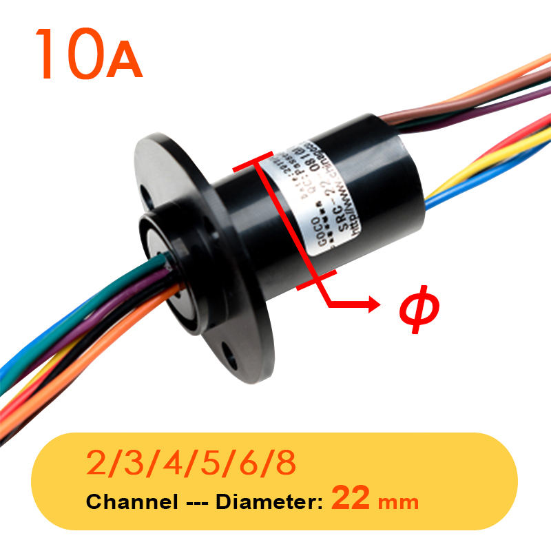 Wind Power Slip Ring 2/3/4/5/6/8  Channel 5/10/15/30/60A Rotate Dining Table Slipring Electric Collector Ring Joint SRC-22-0330A