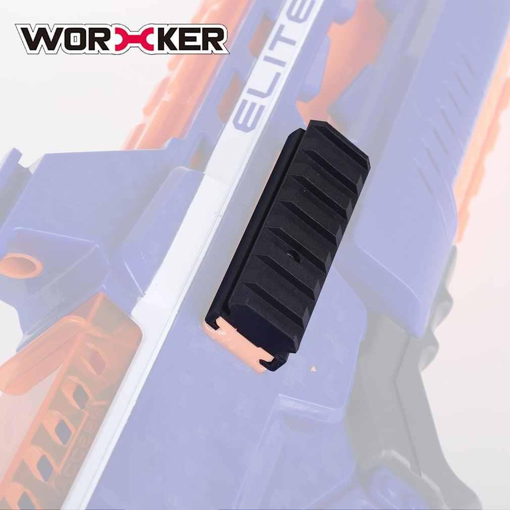 WOERKER Mod de múltiples longitudes Picatinny superior para Nerf Gun partes de modificación de lanzador Rail Mount Nylon ranurado superior Rail Kit Track