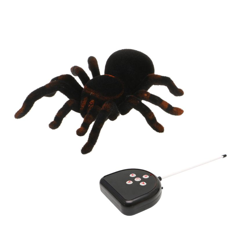 2020 New Remote Control Soft Scary Plush Creepy Spider Infrared RC Tarantula Kid Gift Toy MAY16_35