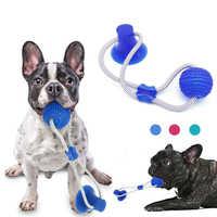 Juguete de perro multifunción para mascotas Molar mordida masticar juguete limpieza dientes perro cepillo de dientes elasticidad suave para cachorro perro juguete interactivo