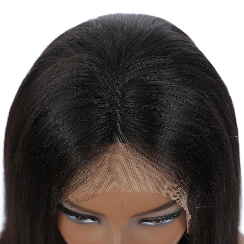 Wig Straight Short Bob Lace Front Wigs 13x4 Lace Front  Wigs Pre-plucked With Baby Hair  6