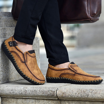 2020 Fashion Man Leather Loafers Confortable Soft Slip On Casual Shoes Men Daily Working Shoe Tenis Hombre Driving Shoes Sneaker