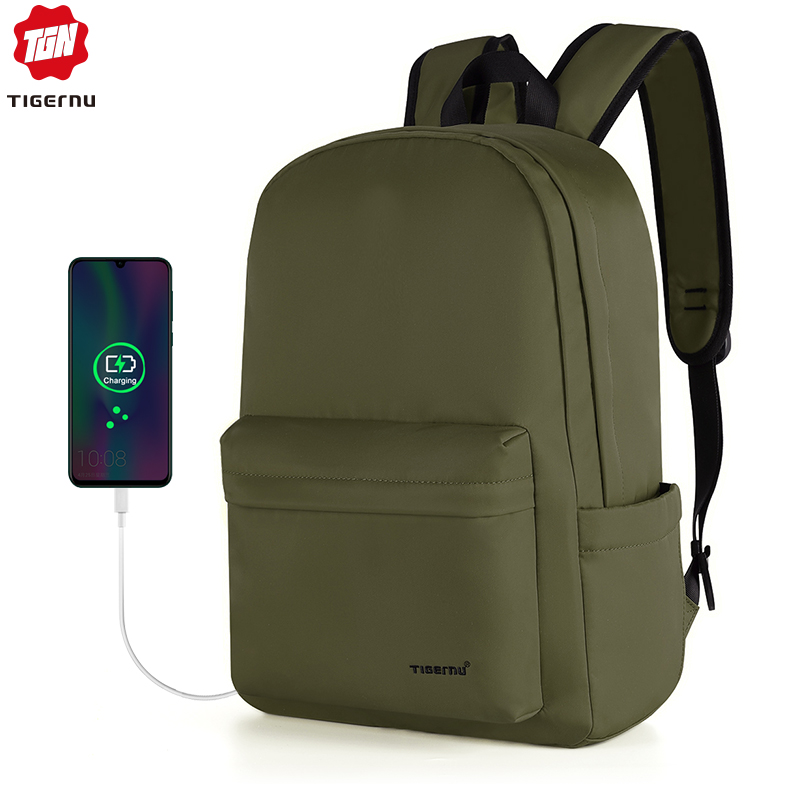Tigernu 2020 New Arrival Waterproof TPU Fashion Men Backpacks 15.6 Inch Laptop School Backpack Bags Light Weight Backbags Female