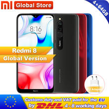 Version mondiale Xiaomi Redmi 8 4 go 64 go octa-core Snapdragon 439 processeur 12 MP double caméra Smartphone 5000 mAh Redmi 8(China)