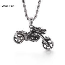 Ожерелье с подвеской в виде черепа мужское колье из нержавеющей