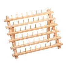 Drewniana szpula stojak na nici uchwyt na nici do haftu 60 szpul tanie tanio CN (pochodzenie) Przędzy Przechowywania Drewna Wooden Thread Rack Regały magazynowe