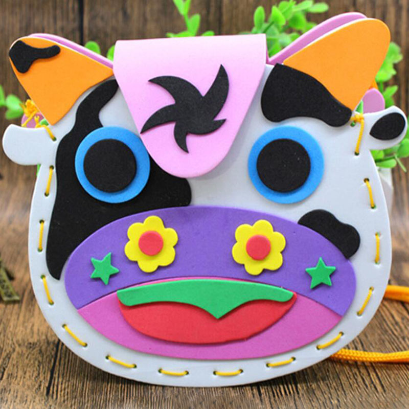 EVA DIY Bags Cute Style Bag Handmade Crafts Cartoon Sewing Backpacks Kindergarten Parent-child Activity Intellectual Toy