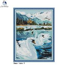 Wall-Decoration Cross-Stitch-Kit Needlework-Set Embroidery Canvas 11CT Animal-Pattern