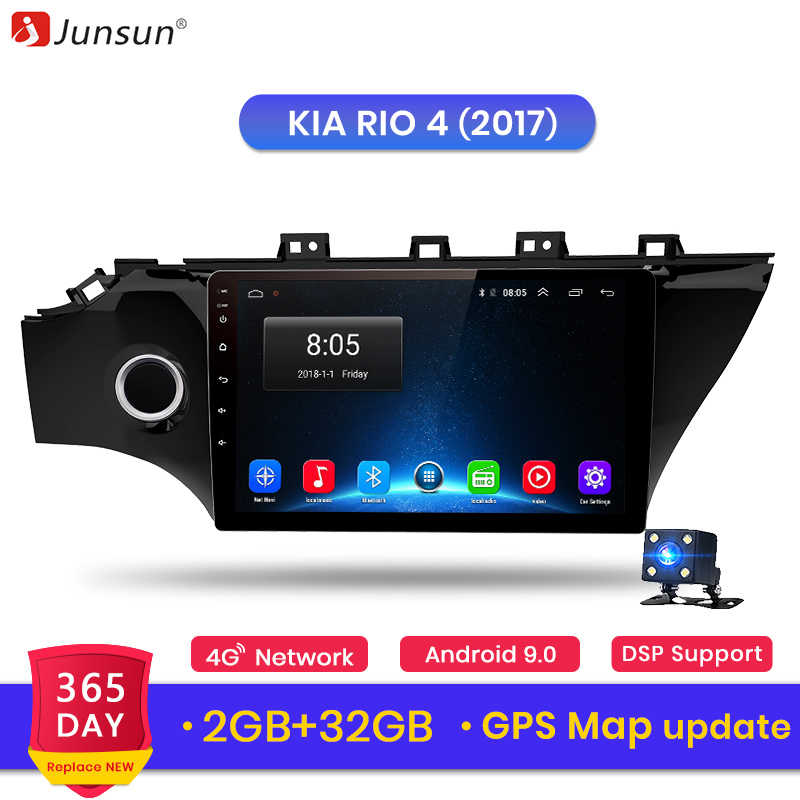 Junsun V1 2G+32G Android 9.0 DSP Car Radio Multimedia Video Player for KIA RIO 4 2017 2 din DVD GPS Navigation RDS