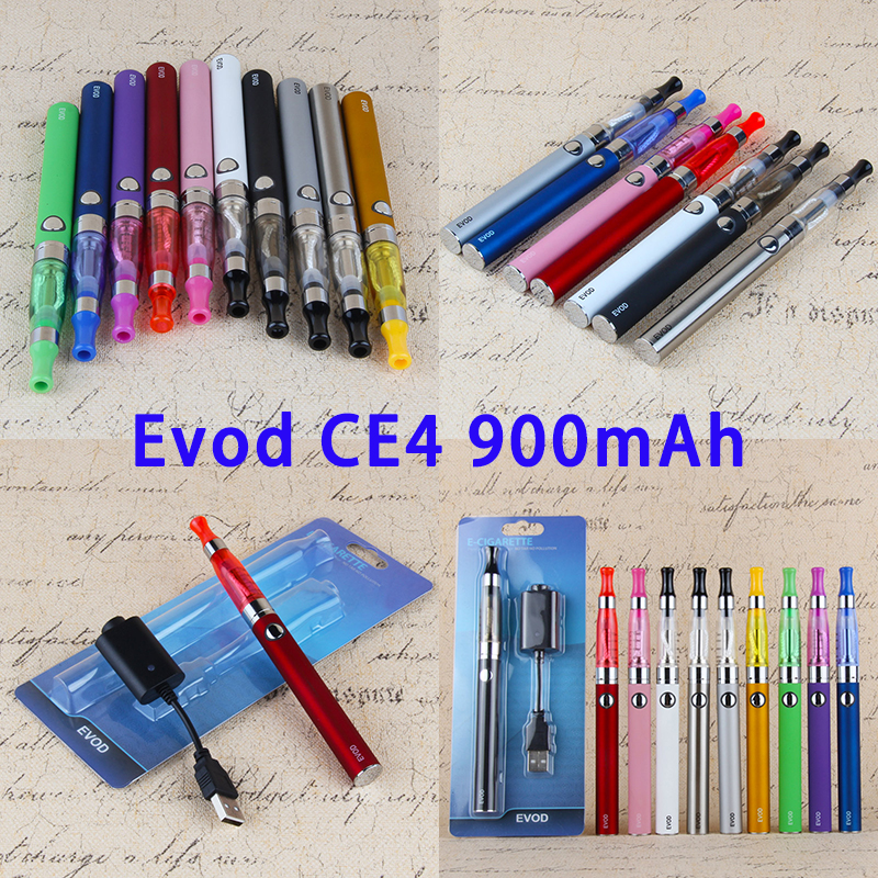 CE4 Evod Pen Hookah EGo CE 4 Starter Kit Blister Package Electronic Cigarette Price 900mAh Vaper Battery