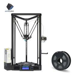 ANYCUBIC Kossel 3D impresora lineal más medio ensamblado con nivnivelación automática grande 3D tamaño de impresión Impressora 3D DIY Kit