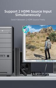 Image 3 - Unnlink hdmi 2.0 オーディオ extractor 2 で 1 アウト 2 × 1 スイッチ uhd 4 18k @ 60 hz HDCP2.2 分割 5.1ch spdif toslink 2.1ch 3.5 ミリメートルアークため PS4 テレビ
