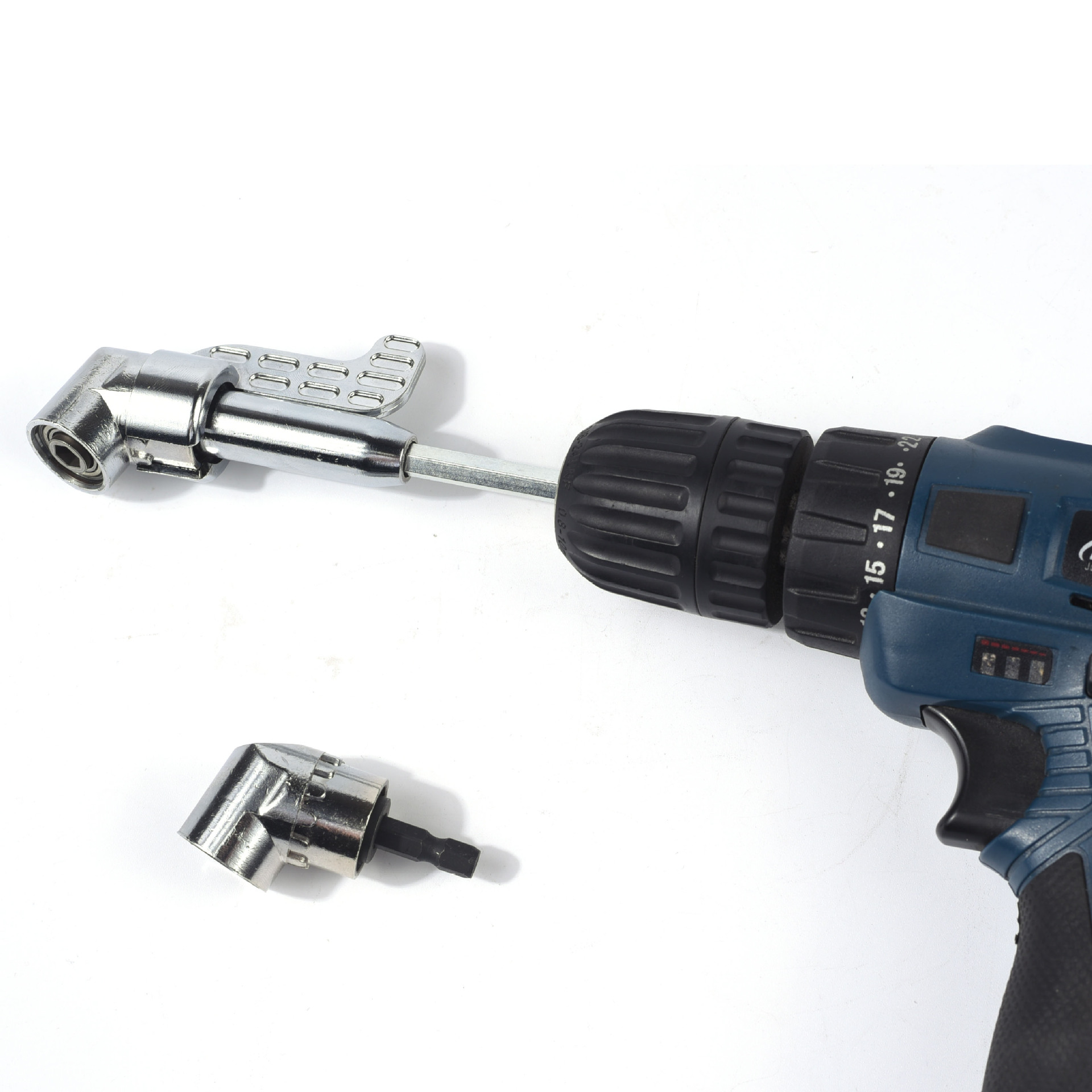 105 Degree Right Angle Drill Extension Shank Quick Change Driver Drilling Screwdriver Magnetic 1/4 Hex Socket Close Corner Tool