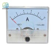 85C1-A DC Analog Amperemeter Panel Current Meter Gauge 5A 10A AMP Gauge Current Mechanical Ammeter стоимость