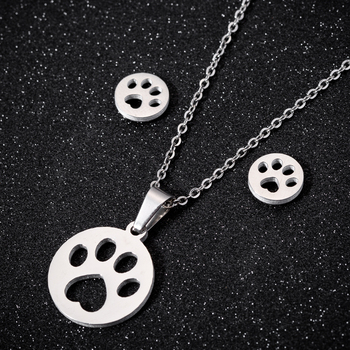 Dog Pendant Necklace Set 2