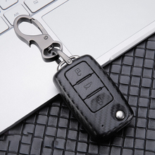 цена на Car Key Case Cover For VW Golf Bora Jetta POLO GOLF Passat  GTI R MK7 TiguanTouran Bora Sharan For Skoda Octavia A5 Fabia SEAT