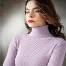 VK mode 2021 printemps été femmes tricoté pull à col roulé pull décontracté doux pull mode mince Femme élasticité pull
