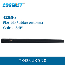 2 pc/lote Wifi Antena SMA Interface de 433MHz de Alto Ganho 3dBi TX433 JKD 20 Omnidirecional antena wi fi Omni