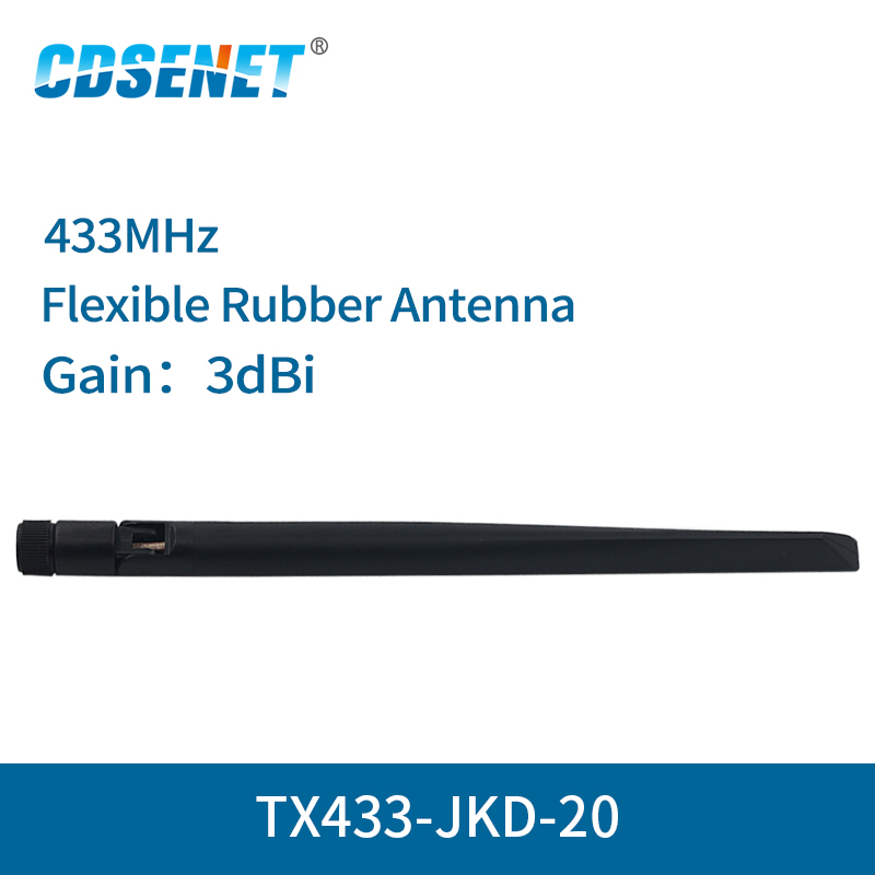 2pc/lot Wifi Antenna 433MHz High Gain 3dBi SMA Interface TX433-JKD-20 Omnidirectional Antena Wifi Omni