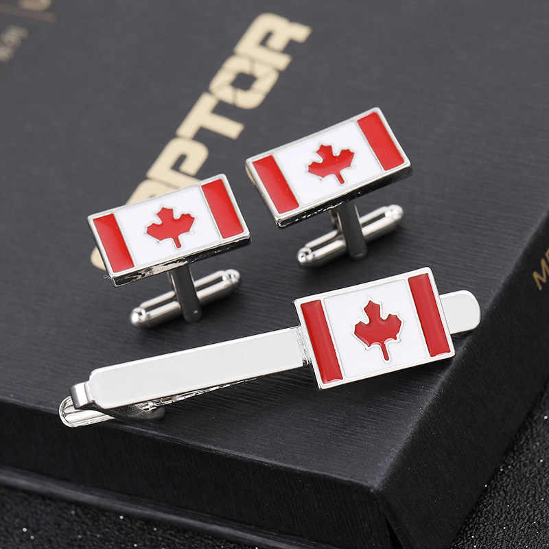 Fashionable and simple new tie clip red and white enamel men's metal shirt Cufflinks tie clip accessories gift high quality