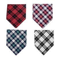 NACOCO Dog Bandana Check Pattern Pet Bib Funny Scarf Collar Soft for Medium Large Dogs