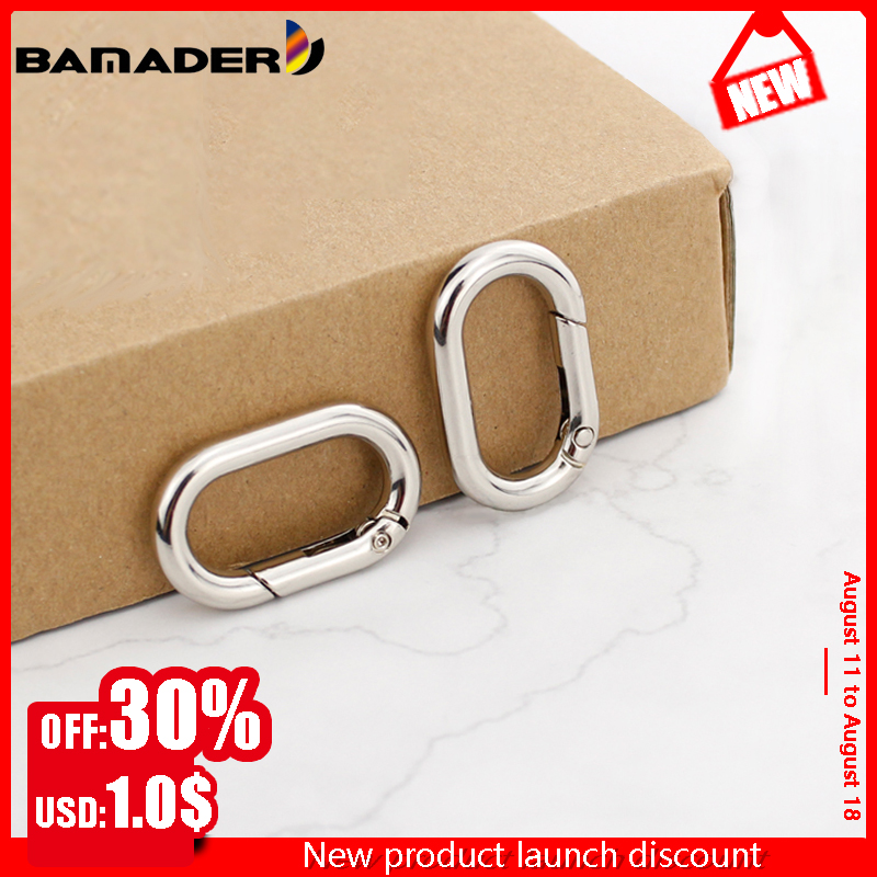 BAMADER Spring Oval Open Ring Buckles Clips Hooks Openable Keyring Leather Strap Buckle Snap Clasp Clip Trigger DIY Accessories