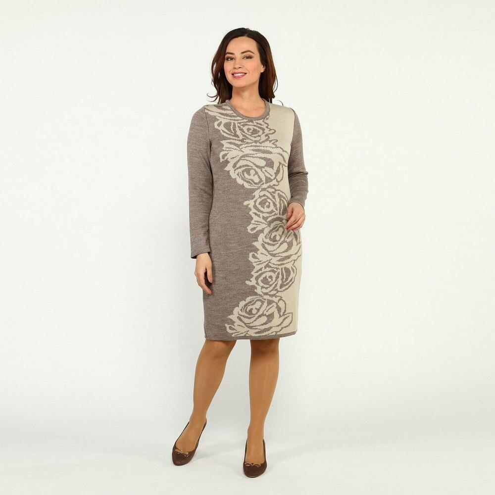 Dresses VeraVo 32827 women sundress large size chiffon velvet velour lace beige with a low waistline Maxi and MIDI