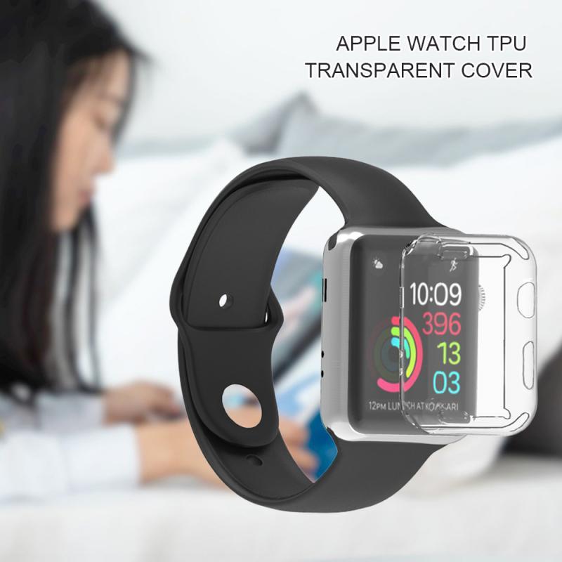 """38 מגן TPU Case עבור Apple Watch2 / 3/4 Anti-Drop ארה""""ב להגנת מעטפת מלאה Cover Case 38/40/42 / 44mm מגן אופציונלי (5)"""