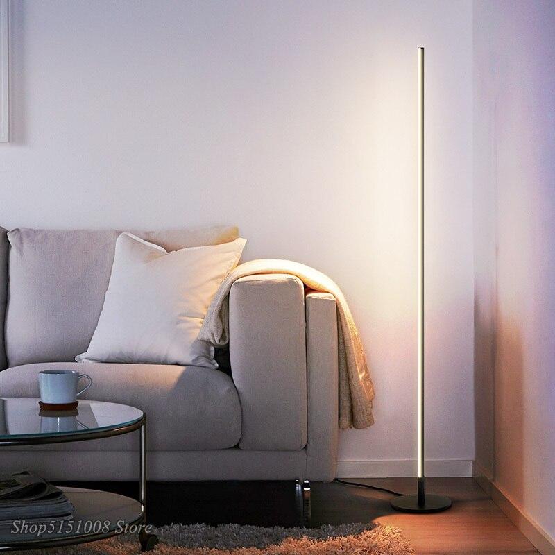 Nordic Minimalist LED Boden Lampen Moderne Led Standing Lampen Wohnzimmer Schwarz/Weiß Metall Luminaria Lamparas Home Decor Leuchten