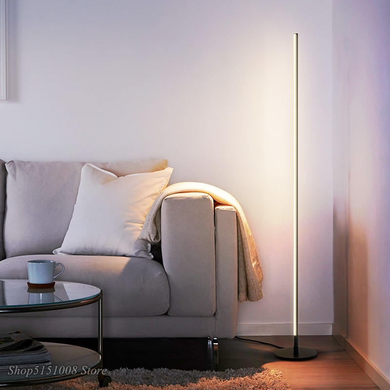 Nordic Minimalist LED Floor Lamps Modern Led Standing Lamps Living Room Black/White Metal Luminaria Lamparas Home Decor Fixtures
