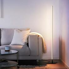 Lámparas de pie modernas LED minimalistas de estilo nórdico, sala de estar Led para lámparas de pie, Luminaria de Metal blanco/Negro, lámparas decorativas para el hogar