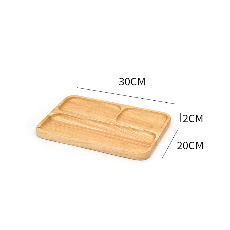 Wooden Round Storage Tray Plate Tea Food Dishe Drink Platter Food Plate Dinner Beef Steak Fruit Snack Tray Home Kitchen Decor - Цвет: 17