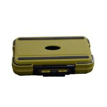 Легкая рыболовная коробка Мини Многоцелевой контейнер двухслойный открытый отсек для хранения водонепроницаемые аксессуары приманки