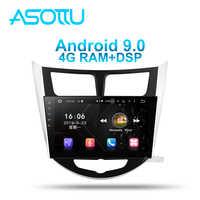 Asottu HY602 Android 9,0 PX6 Auto dvd für Hyundai Solaris 1 Verna Accent 2010-2016 auto steuergerät radio player navigation gps