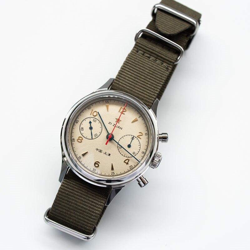 Hf3e3c7ae15834a4b95b59b77be27b7f7i Classic 1963 D304 Chronograph Men Pilot Wrist Watch Mechanical Hand Wind Seagull ST1901 Movement Aviator Watches Sapphire Glass