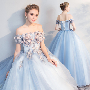 Gryffon Quinceanera Dresses Off The Shoulder Party Dress Sweet Appliques Prom Floor-length Ball Gown Candy Color Plus Size - discount item  34% OFF Special Occasion Dresses