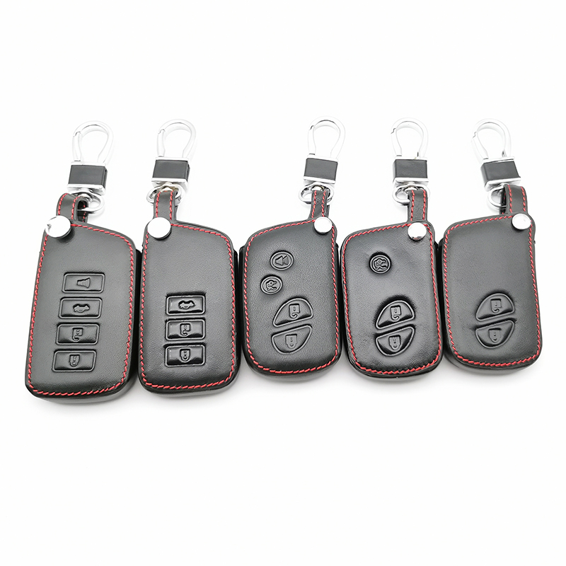 100% Leather Car Key Case Cover Holder for Lexus CT200H ES350 <font><b>GX400</b></font> GS350 IS250 RC350 RX300 LX570 NX300h 450 Keychain Case image