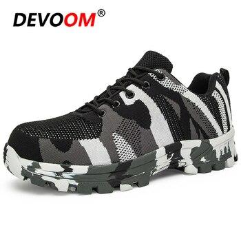 2019 Men Outdoor Sport Hiking Shoes Breathable Steel Toe Cap Work Trekking Shoes Footwear Sneakers Men Rock Climbing Shoes EU 48
