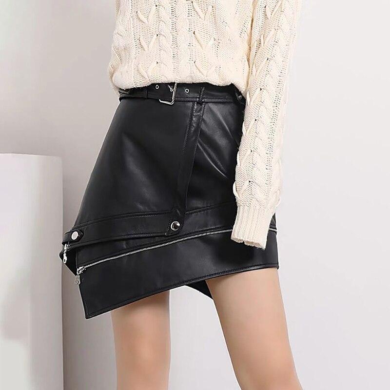 Mini Leather Skire Black Sexy Skirt 2019 Autumn Korean Streetwear Skirts Women