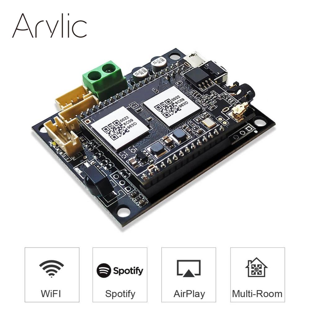 Up2stream Mini V2 WiFi Audio Receiver Module Board With Spotify Airplay DLNA 24bit 192kHZ FLAC  Multiroom Free Android IOS App
